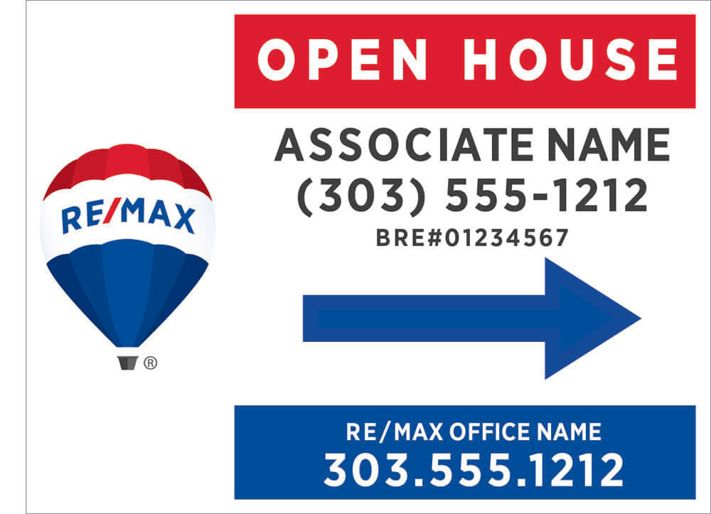 ReMax open house signs