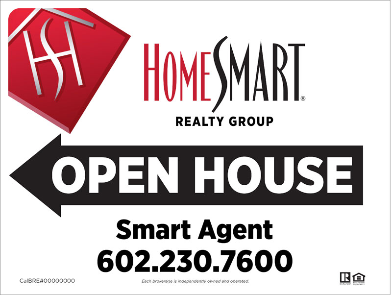 Homesmart Realty Group Open House Signs