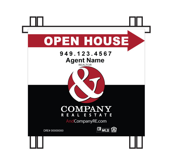& Company Real Estate PVC Open House A-frame