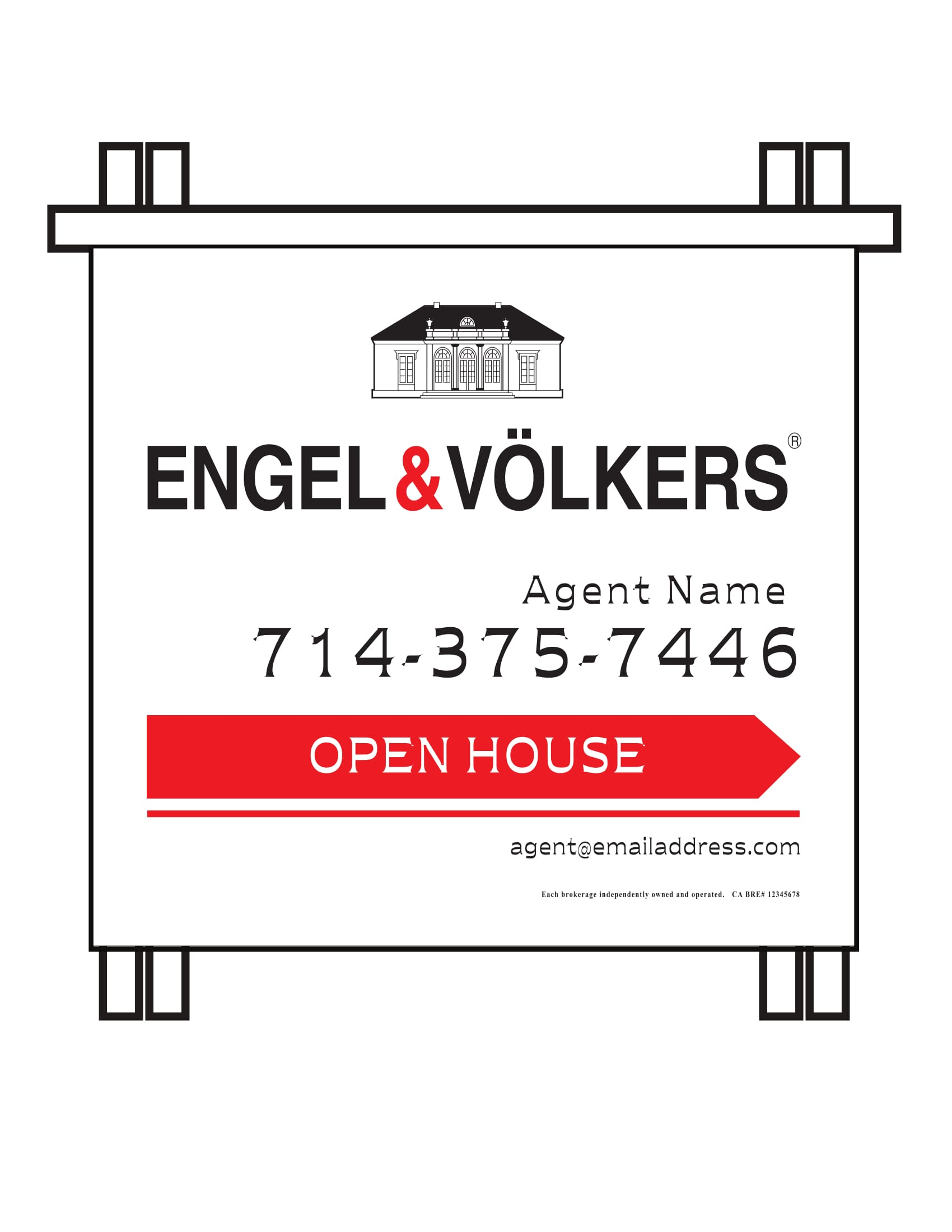 Engel & Volkers PVC Open House A-frame