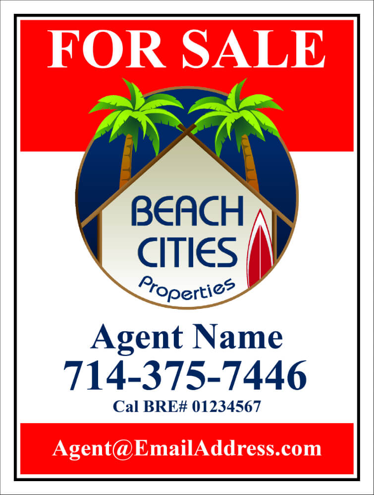 Beach Cities Properties For Sale Signs