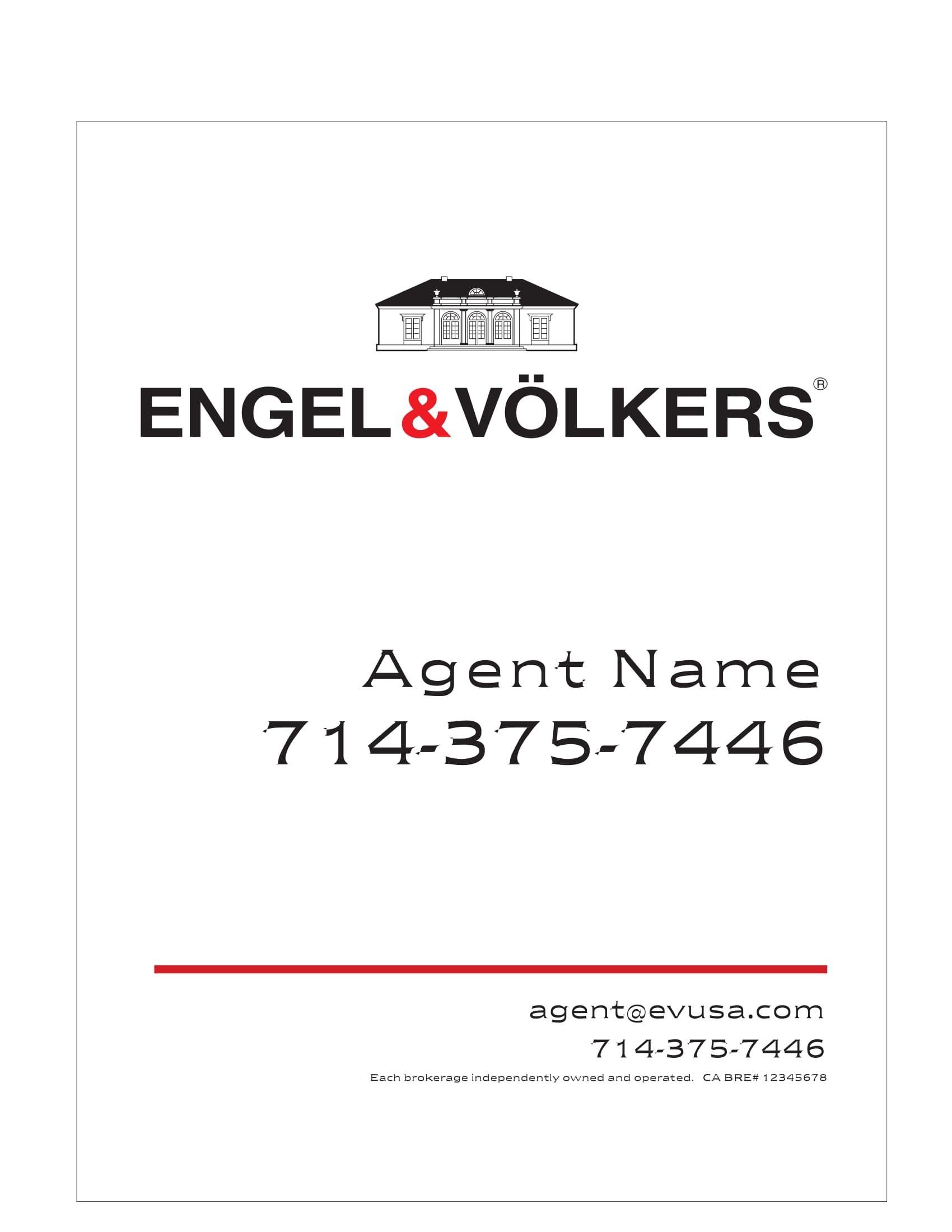 Engel & Volkers For Sale Signs
