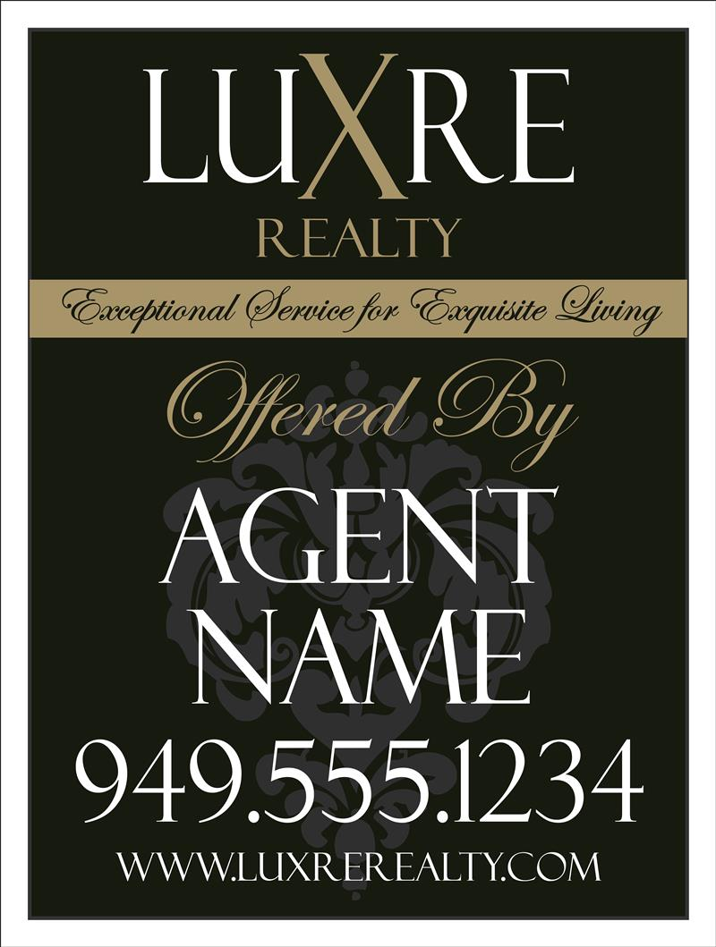 Luxre for sale signs