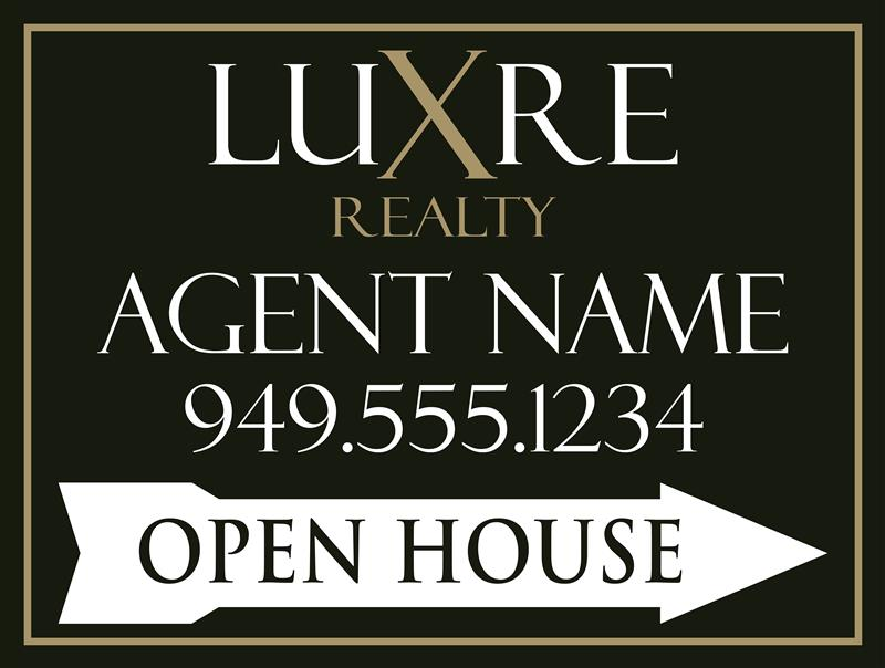 Luxre open house signs
