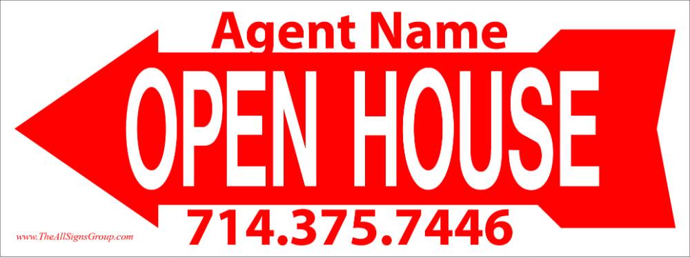 Beach Cities Properties 9x24 Open House Signs