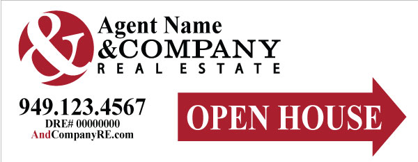 & Company Real Estate 9x24 Open House Signs
