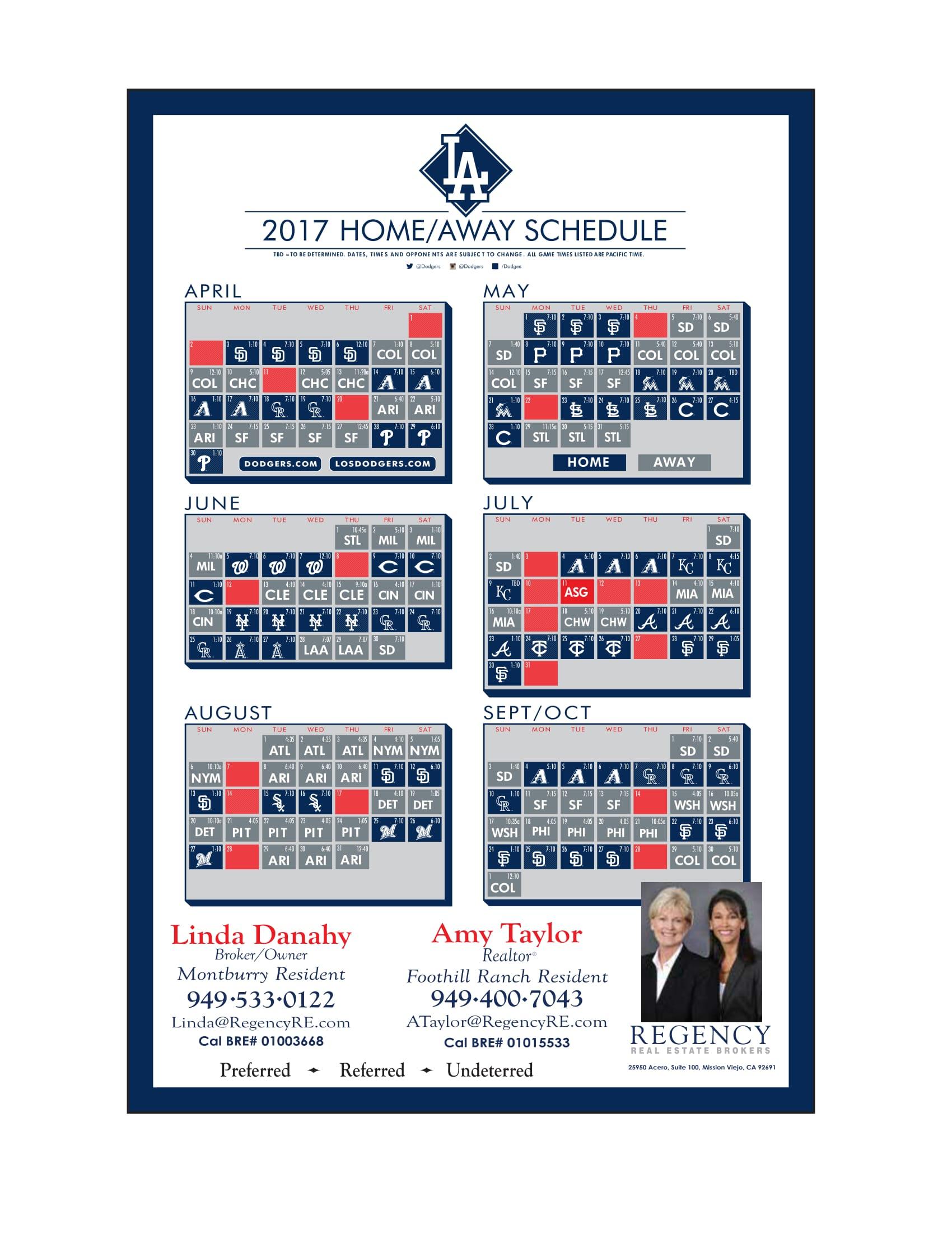 500 Baseball Schedule Postcards
