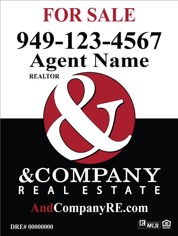 & Company Real Estate For Sale Signs