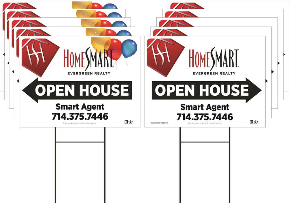 Evergreen Open House or Garage Sale Pack 2 (Available in 6 and 10 packs)
