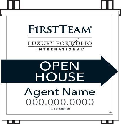 Luxury Portfolio PVC Open House A-frame
