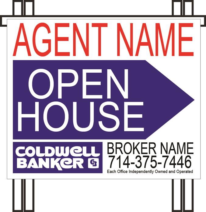 Coldwell Banker PVC Open House A-frame