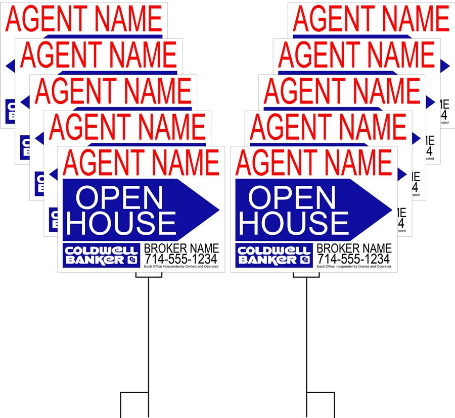 Coldwell Banker Open House or Garage Sale Pack 2 (Available in 6 and 10 packs)